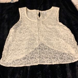 Lace tank top.